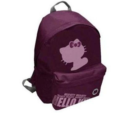 mochila escolar hello kitty morada