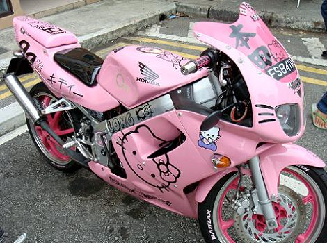moto hello kitty honda