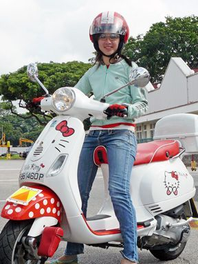 moto hello kitty vespa