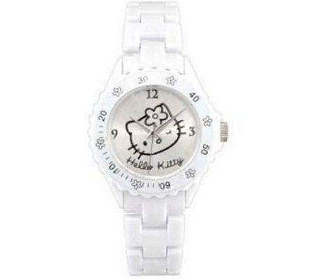 reloj kitty blanco plastico