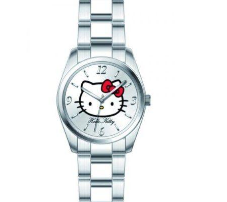 reloj kitty color plata