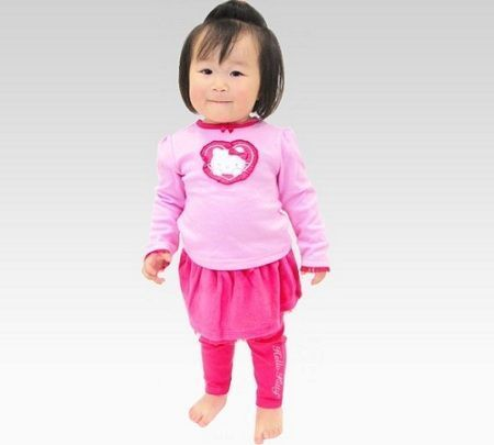 ropa hello kitty bebe conjunto rosa