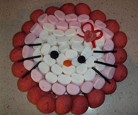 tarta hello kitty gominolas nubes