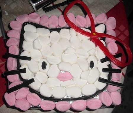 tarta hello kitty chucherias regaliz