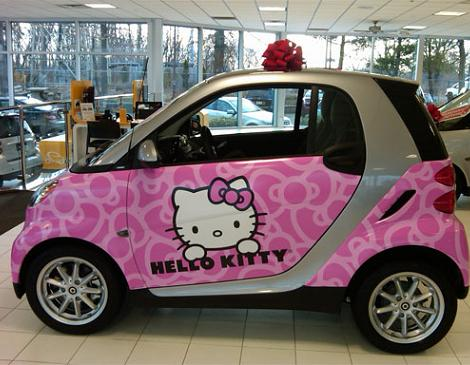 coches hello kitty smart