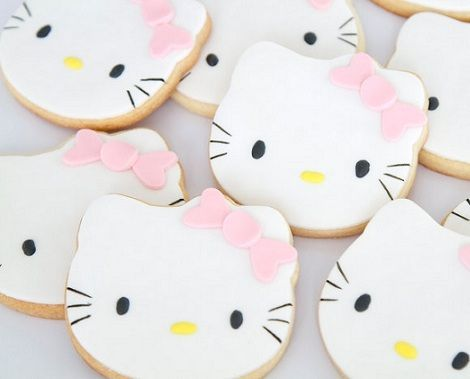 cookies hello kitty rosas
