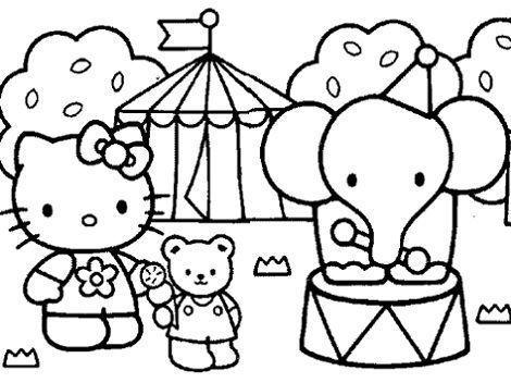 dibujos hello kitty imprimir circo