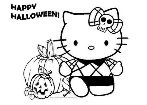 dibujos hello kitty imprimir halloween
