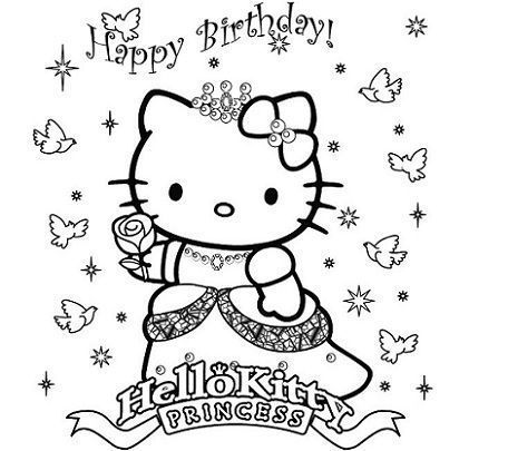 dibujos hello kitty imprimir princesa