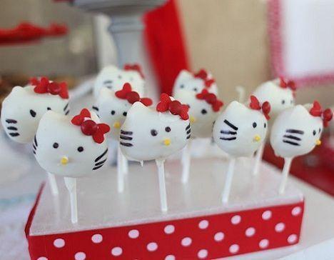 fiesta hello kitty cake pops