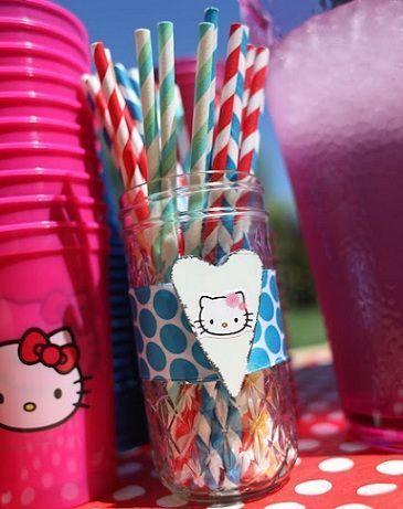 fiesta hello kitty vasos