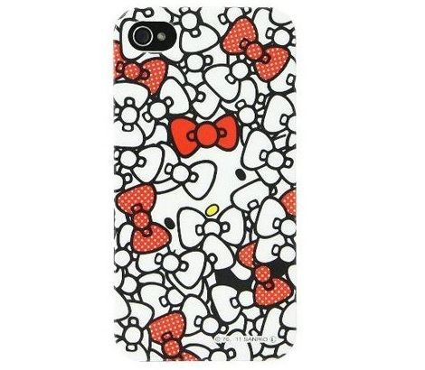 funda kitty iphone lazos