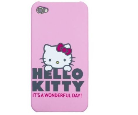 funda kitty iphone rosa claro