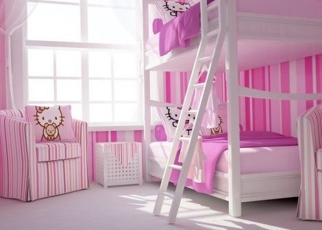 habitacion hello kitty literas
