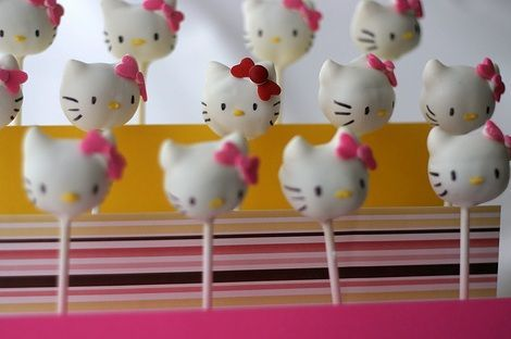 hello kitty cake pops pintar resultado