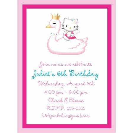 hello kitty invitaciones cisne