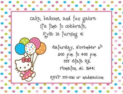 hello kitty invitaciones lunares