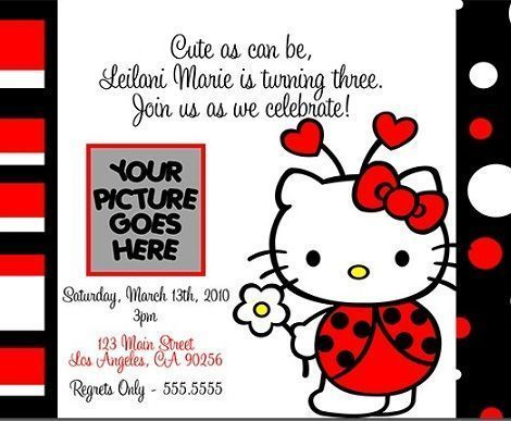 hello kitty invitaciones mariquita