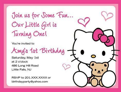 hello kitty invitaciones osito