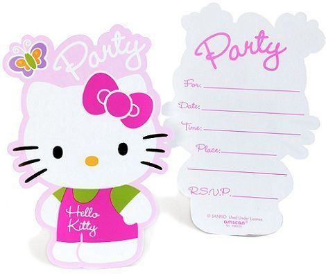 hello kitty invitaicones