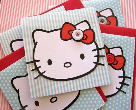 invitaciones cumpleanos hello kitty caseras rayas