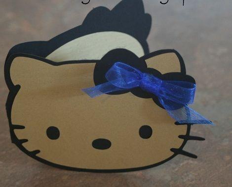 invitaciones cumpleanos hello kitty caseras reciclada
