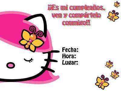 invitaciones cumpleanos hello kitty imprimir carita