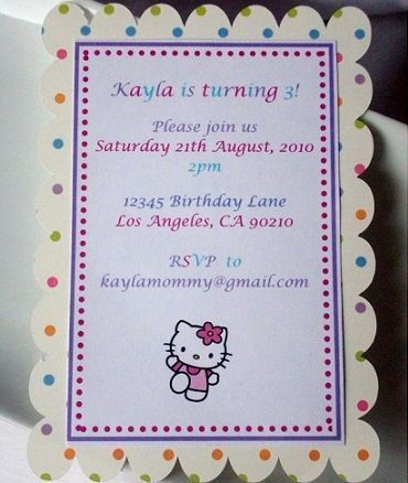 invitaciones hello kitty originales casera lunares
