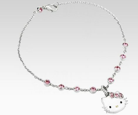 joyas hello kitty collar brillos