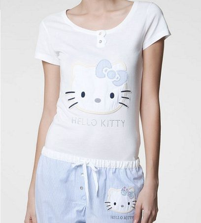 pijamas hello kitty oysho conjunto rayas