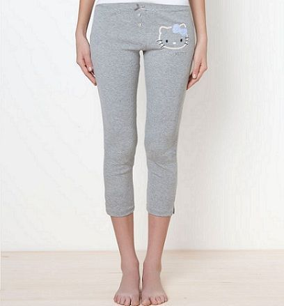 pijamas hello kitty oysho pantalon corto gris