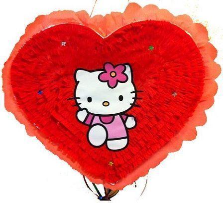 pinata hello kitty corazon