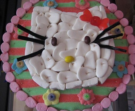 tarta hello kitty chuches
