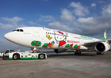 Avión Hello Kitty