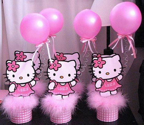 fiesta hello kitty cumpleanos centros