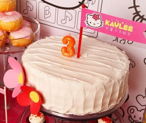 fiesta hello kitty cumpleanos tarta