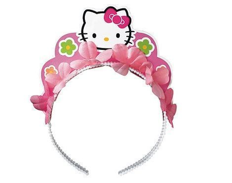 fiesta hello kitty cumpleanos tiara