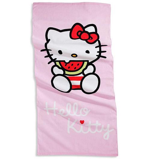 hello kitty rosa toalla
