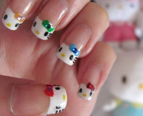 hello kitty unas brillo