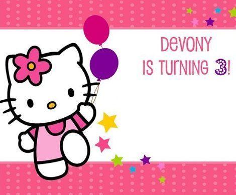 invitaciones cumpleanos hello kitty globos