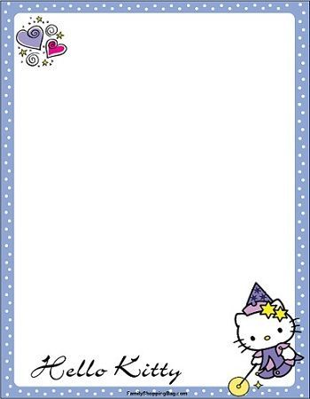 invitaciones hello kitty imprimir bruja