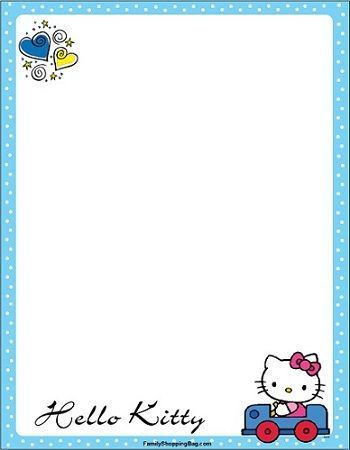 invitaciones hello kitty imprimir coche