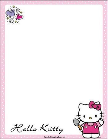 invitaciones hello kitty imprimir jardin