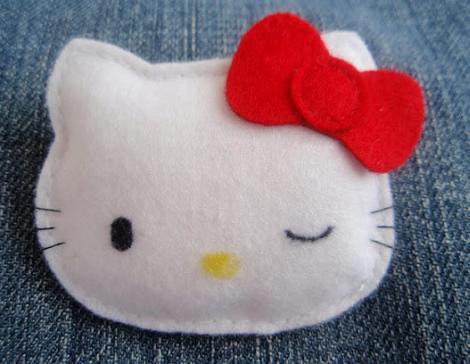 manualidades fieltro hello kitty