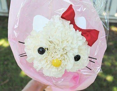 manualidades flor hello kitty
