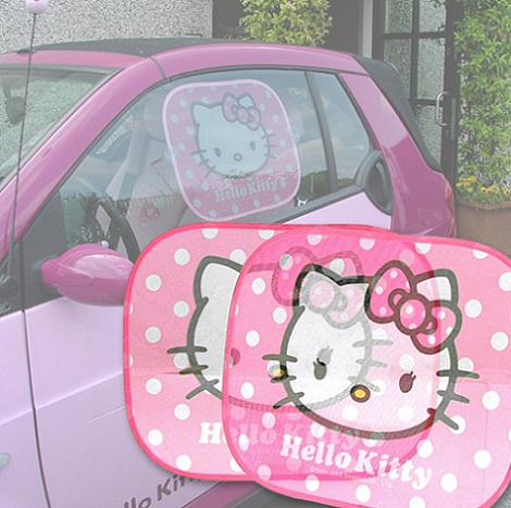 parasol coches hello kitty ventana