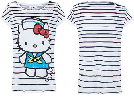 ropa hello kitty blanco camiseta completa