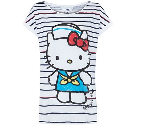ropa hello kitty blanco camiseta