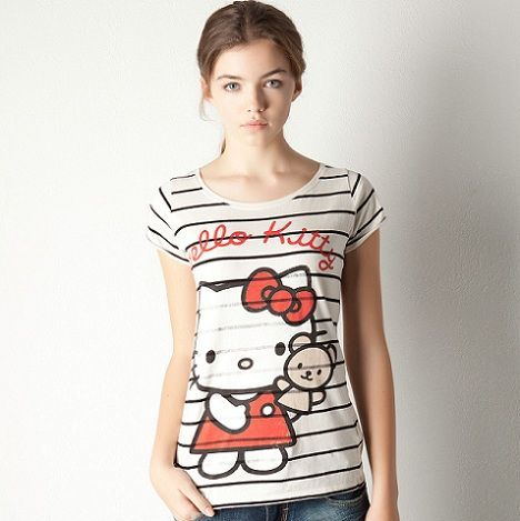ropa hello kitty pull and bear camiseta rayas