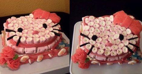 tarta hello kitty chuches lengua